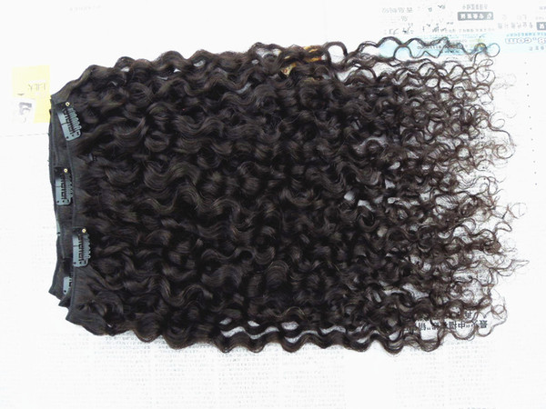 new style brazilian virgin curly hair weft clip in unprocessed curl natural black color human extensions beayty hair