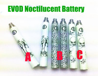 Wholesale E Cigarette Nova Starter Kit - Ecig EVOD TSN Battery Luminous Noctilucent Battery for eGo E Cigarette Starter Kits CE4 CE5 Protank Glass wax coils VIVI NOVA Atomize drip