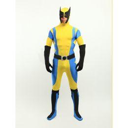 3aa63c183e8 X-Men Wolverine Spandex Superhero Costume Halloween Cosplay Party Zentai  Suit