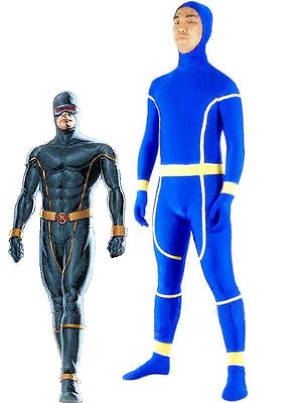 X Men Cyclops Spandex Superhero Costume Halloween Cosplay ...