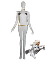 Bianco X-Men Storm Spandex Superero Costume Halloween Cosplay Party Zentai Sui