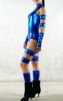 weibliches wunder cosplay großhandel-Marvel Comics Psylocke X-Men Frauen Superheld Kostüm Halloween Cosplay Party Zentai Anzug