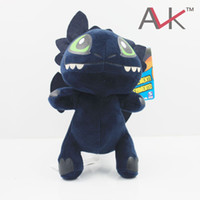 Wholesale Dragon Toothless Plush - Anime carton dolls Plush toys How to Train Your Dragon 2 Toothless Night Fury Q version of the Blue Dragon classic animation baby toys