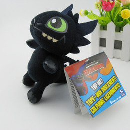 Wholesale Movie Night Gift - New Anime carton dolls Plush toys How to Train Your Dragon 2 Night Fury 17.8CM Top quality baby toys children's gift Fashion toys