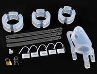 Wholesale Silicone Chastity Bird - NEW Pure Silicone Male Chastity Device Men Cock Cage Bird Lock Silicon Silica Gel Sex Toys