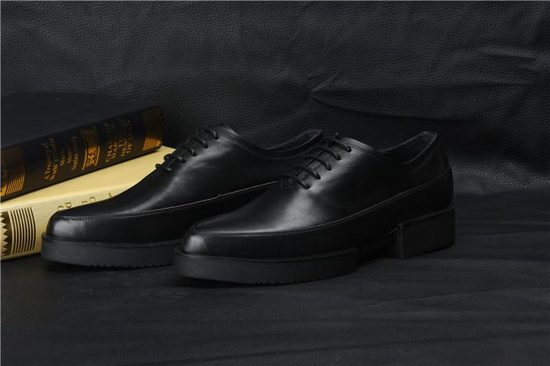 Handsome Mens Platform Shoes Mens Dress Shoes Black Genuine ...
