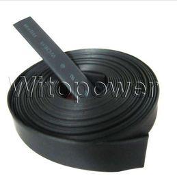 conectores de arame Desconto Tubo preto da tubulação do psiquiatra do calor de 50M para a única cor do RGB da tira do diodo emissor de luz de 8 / 10mm 3528 5050