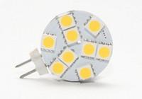 12v deniz soğanları sıcak beyaz toptan satış-Led styling aydınlatma Tekne için G4 Yuvarlak Ampul / Otomotiv 9 LEDs Beyaz Sıcak Beyaz 5050 SMD 9 LED Deniz Camper Araba Ampul Lamba 12 ...