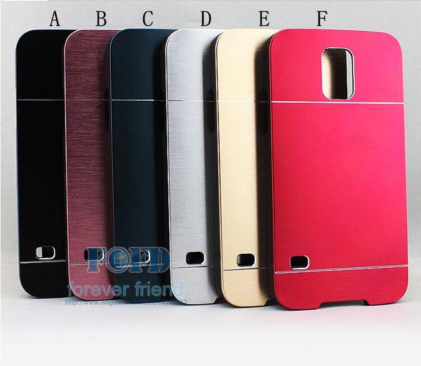 Nouveautés Cas de téléphone portable en métal brossé MOTOMO Hard Protector Proof Scratch Proof Scratch Pour Samsung s3 s4 s5 i9300 i9500 i9600 Gratuit
