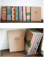 Wholesale Korean Free Stationery Paper - Free shipping! 2014 new Free shipping  korean Stationery New vintage style paint pattern Notebook  Paper Notepad