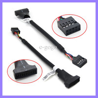 Wholesale Usb Extension Cable Motherboard - 17CM Mainboard Motherboard USB 3.0 20 pin Male to USB 2.0 9 pin Female Housing Cable Extension Adapter Cable