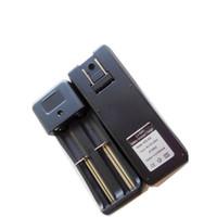 ingrosso kit elettronico per batterie di sigaretta-Caricabatteria al litio 18650 18350 14500 16340 Batteria ricaricabile agli ioni di litio a secco Caricatore a muro UE per caricabatterie elettronico Kit E Cig Mod