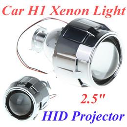 """tábuas em movimento Desconto 2.5 """"Mini Carro Xenon H1 ESCONDEU Lente de Projetor com Saia para Farol de Carro Xenon H1 Luz"""