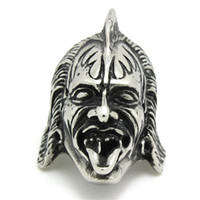 Wholesale Rolled Steel Prices - 316L Stainless Steel Cool Punk Gothic Rock & Roll Music Skull Factory Price