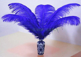 Wholesale Deep Purple Wedding Decorations - New Arrive Colorful 16-18 inch 40-45cm Ostrich Feather Plume Eiffel Tower centerpieces Home table decoration Wedding Decorations 10pcs lot