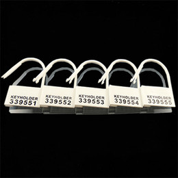 Wholesale Bdsm Locked Cock - 30pcs Lot Plastic Chastity Cock Cage Locks Disposable 5 Different Numbers Keyholder Numbered BDSM Bondage Gear Accessories