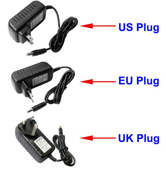 AC 100-240V to DC 12V 2A UK Plug Power adapter charger Power Supply Adapter 3 Pin 5.5mm x 2.1mm for Led Strips Lights