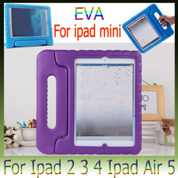 Wholesale Child Kid Ipad Case Cover - Baby Children Kids Safe Portable Shockproof Protection Case Cover Shell for ipad 4 5 6 air 2 mini 3 EVA Foam Handle Stand