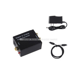 Wholesale Optical Rca Converter - S5Q Digital Optical Coaxial Signal to Analog Audio Converter US UK Adapter RCA AAADMS
