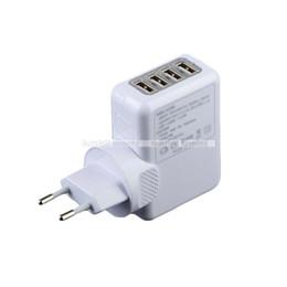 Wholesale Usb Hub Ac Power Adapter - S5Q Travel AC Home Wall Power Charger Adapter Plug 4-USB Hub For IPhone Samsung AAADMP