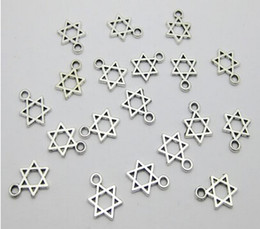 "Wholesale Tibetan Beads Sale - Hot Sale ! 100pc Tibetan silver ""Star of David"" Kabbalah Dangle Beads Fit European Charm Bracelet 13 x 9 mm (104)"