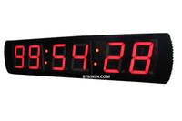 Wholesale Race Timing Clock - 4'' Large Digital HH:MM:SS LED Countdown Wall Clock LED Race Clock For Marathon Running Sport Timing With Wireless Remote Red Indoor Use