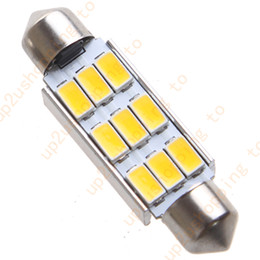 "Wholesale car led interior lights 42mm - 4pcs Car Dome 5630 SMD 9 LED Bulb Light Interior Festoon 42MM 1.72"" Warm White for good price free shipping"