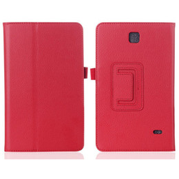 Wholesale Stylus Stand - PU Leather Folio Case Cover for Samsung Galaxy Tab 4 10.1 T530 7.0 T230 W  Stylus Holder Magnetic Sleep Wake UP Stand Function