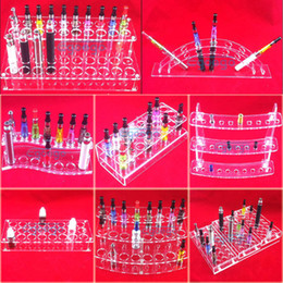 Wholesale Ego Electronic Cigarette Display Case - various styles electronic cigarette stand holder Acrylic display case shelf holder display rack for ego battery atomizer e cig drip tip