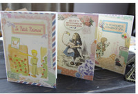 Wholesale Little Notebooks Wholesale - Korean stationery Vintage fairy tale A6 Pocket Notepad Notebook The Little Prince Alice Dorothy Notebook  Paper Notepad