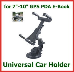Cup Holders Adjustable Canada - Universal Windscreen Car Mount Holder Adjustable for 7- 10.1 inch Tablet PC iPad Mini P1000 GPS Navigator Headrest Suction Cup Holder Set
