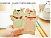 Wholesale Sticky Memo Cat - Students stationery The new Lucky Cat Sticky Mascot Memo pad casual Leopard notes Notebook  Paper Notepad