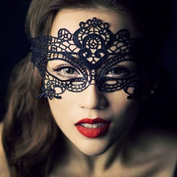 Mode Hot New Masquerade Halloween Exquis Dentelle Demi-Masque Pour Lady Black White Option Mode Sexy
