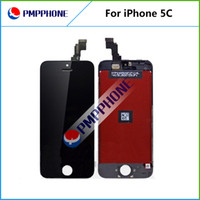 Wholesale Ems Dhl Bar - LCD For iPhone 5 5C Free Fedex EMS DHL Ship with touch screen Full set Assembly White and black color