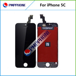 Wholesale Dhl Ems Fedex Free - LCD For iPhone 5 5C Free Fedex EMS DHL Ship with touch screen Full set Assembly White and black color