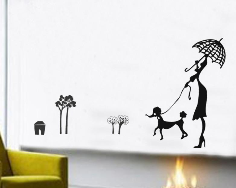 Jm Removable Hot Sale Wall Sticker Dog Home Decoration Cm - Locations where sell wall decals