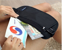 black and khaki sports tickets - Travel Waist Pack Purse Storage Bag Money Security Purse Coin Cards Passport Waist Belt Tickets Bag Pouch Waterproof black and khaki