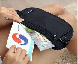 Wholesale Travel Pouch Money Belt - Travel Waist Pack Purse Storage Bag Money Security Purse Coin Cards Passport Waist Belt Tickets Bag Pouch Waterproof 50pcs black and khaki