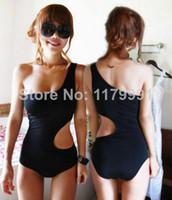 Wholesale Bathing Beauty Swimwear - Wholesale-Beauty One Shoulder Swimsuit Monokini Bathing Suit One Piece Women Swimwear