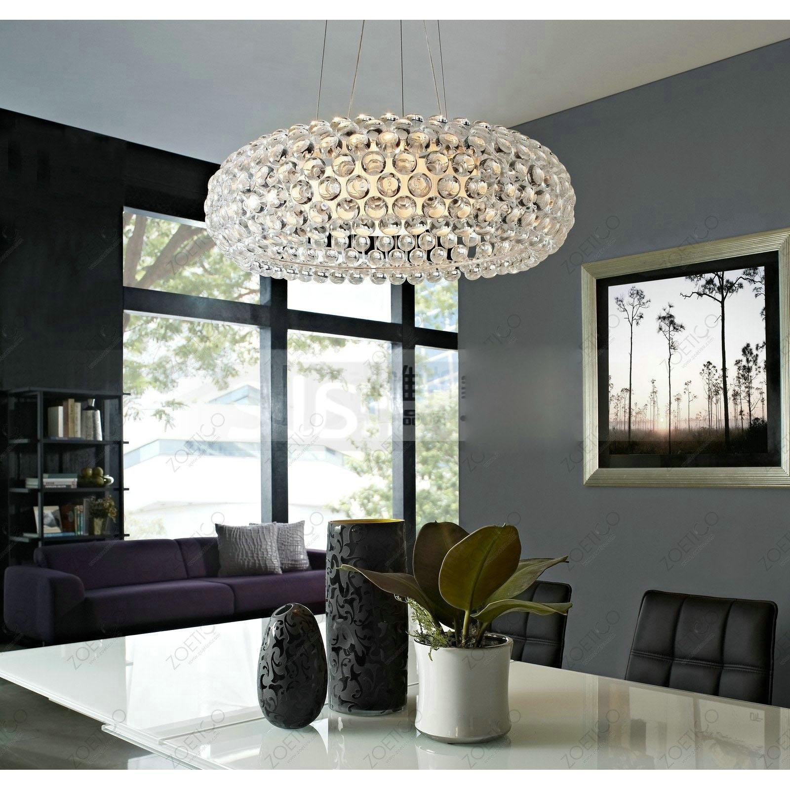 Discount Modern Foscarini Caboche Acrylic Ball Living Room Pendant