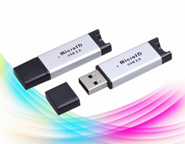 Wholesale T Tops China - Top Quality USB 2.0 Micro SD SDHC card reader, TF T-Flash MicroSD card reader Adapter DHL Fedex free shipping