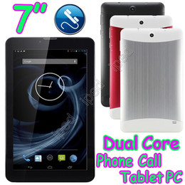 """Wholesale Mtk Tablet Pc Sim Slot - 7"""" Metal Cover Phablet 2G Phone Call Android 4.2 Capacitive Tablet PC MTK6572 Dual Core 2G GSM Bluetooth Camera 2 Sim Slot MID Free Shipping"""