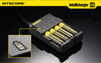 Wholesale Nitecore Sysmax - Hot !!Nitecore I4 i4 Universal Charger SYSMAX Version 2.0 for CR123A 16340 18650 18500 14500 26650 Battery E Cigarette 4 in 1 Intellicharger