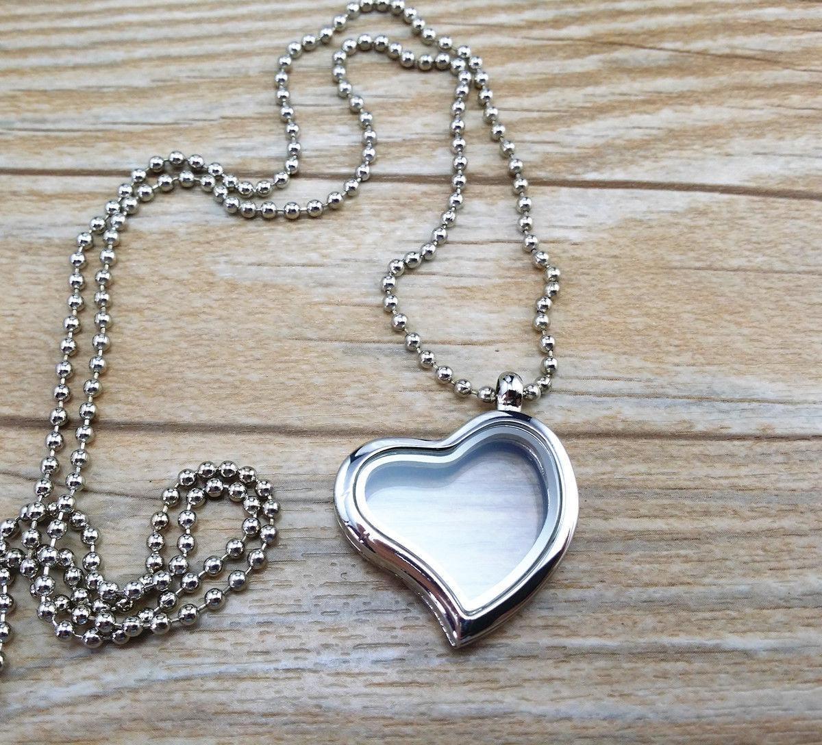 8 Arten 30mm Living Memory Floating Glas Runde Herz Medaillon Anhänger Halsketten Anhänger Modeschmuck Heißer Verkauf