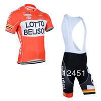 mayo bib lotto toptan satış-YENI 2014 LOTTO Takım bisiklet forması / bisiklet giyim / bisiklet giyim kısa (bib) suit-LOTTO-1D Ücretsiz Kargo