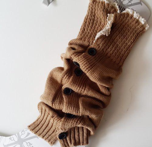 Uzun katı düğme aşağı Dantel Örme Bacak Isıtıcıları Boot Çorap Çorap Boot Tozluk Sıkı Kapakları # 3478