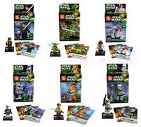 Wholesale Star Wars Legoland - Star Wars Yoda Sith Trooper Admiral Ackbar Building Blocks Minifigure Legoland Model DIY Bricks Toys Figures 18pcs lot