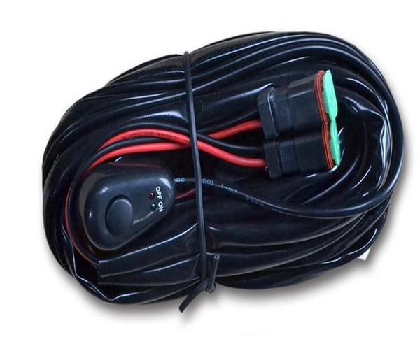 40 Ampere Offroad ATV / Jeep LED Lichtleiste Kabelbaum Relais ON / OFF Schalter 1VS1 EINE KONTROLLE ONE / 1VS2 EINE KONTROLLE ZWEI