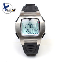 Wholesale Square Games - LEAP Football Soccer Referee Timer Sports Game Coach Wrist Watch Stop Count Down Metal Stainless Steel Black Rubber Band Game Multi-function