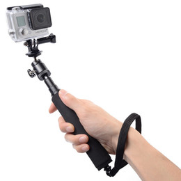 Wholesale Gopro Telescoping Extendable Pole - Self-lock Telescoping Extendable Pole Handheld Monopod with Tripod for Gopro Hero 1 2 3 3+50sets lot DHL Free Travel Must